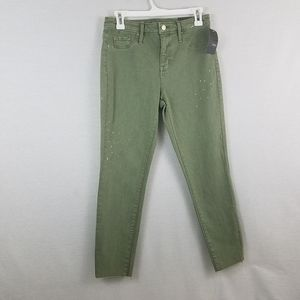 Mossimo Green High Rise Jegging Crop Jeans 6|28 R